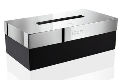 Box na ubrousky CHROMELINE 23,6x12,5x8,5 cm - chrom/černý, JOOP!