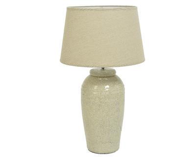 Lampa stolní CRACKLE 44,5x69,5 cm - bílá, Kaemingk