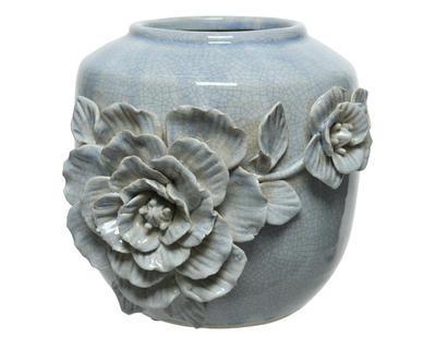 Váza FLOWERS 21x19,5x21 cm - levandulová, Kaemingk
