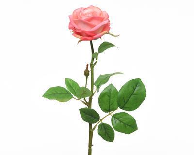 Květina RŮŽE KVĚT 66 cm - růžová, Kaemingk