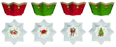 Vánoční set 4ks - Miska VINTAGE XMAS 10 cm, Easy Life