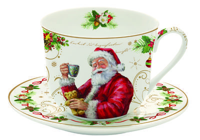 Vánoční šálek & podšálek MAGIC CHRISTMAS 400 ml, Easy Life