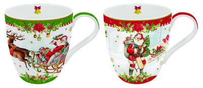 Vánoční set 2ks - Hrnek VINTAGE XMAS 350 ml, Easy Life