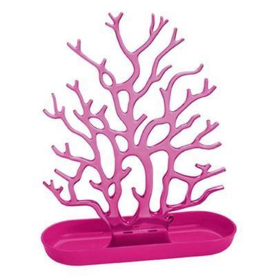Držák na drobnosti - strom CORA - růžová/transp.růžová, Koziol