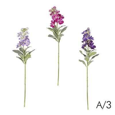 Květina STRAČKA H38 A/3 světle fialová/fuchsiová/fialová, Sia