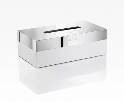 Box na ubrousky CHROMELINE 23,6x12,5x8,5 cm - chrom/bílý, JOOP!