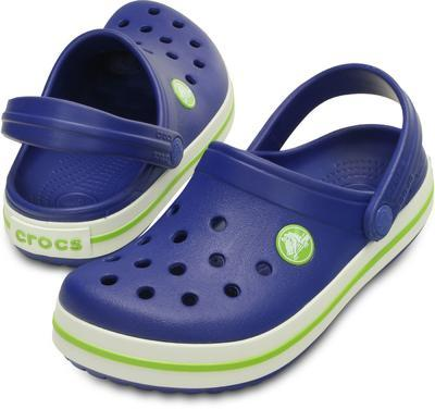 Boty CROCBAND KIDS C6/7 cerulean blue/volt green, Crocs