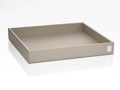 Podnos obdélníkový BATHLINE 26x3,5x23 cm - šedý, JOOP!