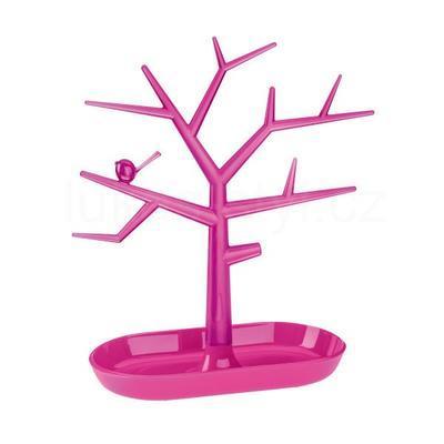Držák na drobnosti - strom PI:P - růžová/transp., Koziol