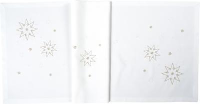 Vánoční ubrus MEISTERSTÜCK 85x85  bílo/zlatý, Sander