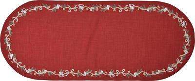 Vánoční prostírání ovál NÜRNBERG 36x50 červené, Sander