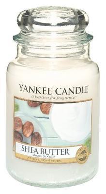Svíčka Shea Butter - sklo č.3, Yankee Candle