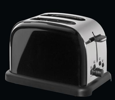 Toaster na dva plátky RETRO - černý, Cilio