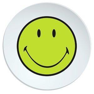 Talíř salátový SMILEY 20 cm - zelená/bílá, Zak!