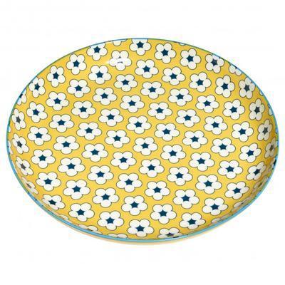 Talíř mělký COTTON BUD 23 cm - žlutá, MW Christopher Vine