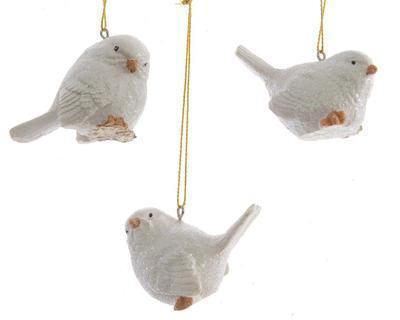 Vánoční ozdoba - ptáček, 3 assort