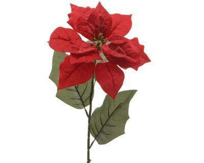 Vánoční umělá květina - Poinsettia SILK 67 cm - červená, Kaemingk