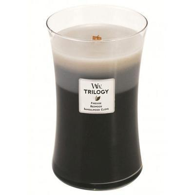 Svíčka vonná TRILOGY - Hřejivé dřevo - 609,5 g, WoodWick