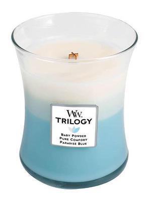 Svíčka vonná TRILOGY - Svěžest a čistota - 275 g, WoodWick