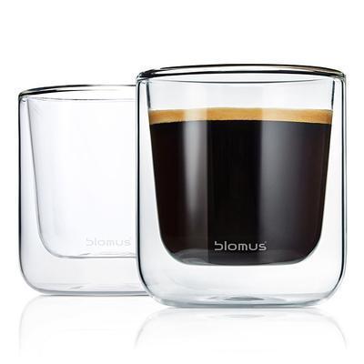 Sada 2 ks - termosklenice caffé NERO 200 ml, Blomus