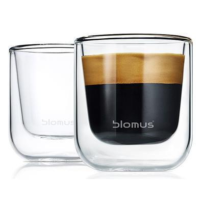 Sada 2 ks - termosklenice espresso NERO 80 ml, Blomus