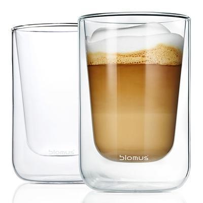 Sada 2 ks - termosklenice cappuccino NERO 250 ml, Blomus