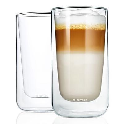 Sada 2 ks - termosklenice café latte NERO 320 ml, Blomus