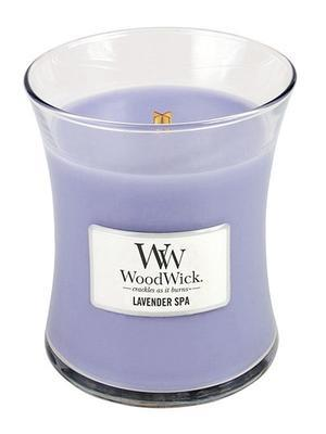 Svíčka střední - Lavender Spa - 275 g, WoodWick