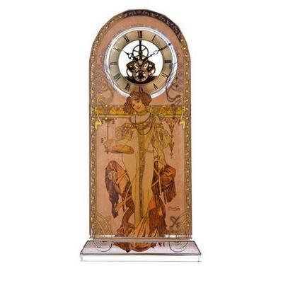 Hodiny stolní ARTIS ORBIS A. Mucha - Autumn 1900 - 32 cm, Goebel
