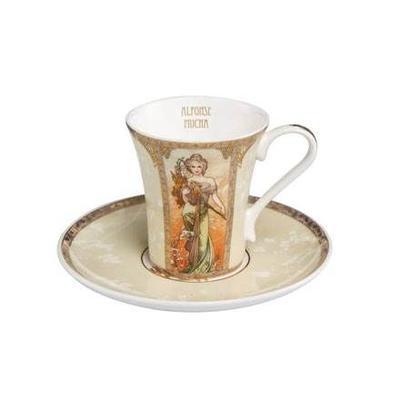 Šálek a podšálek espresso ARTIS ORBIS A. Mucha-Spring-Summer1900-100 ml, Goebel