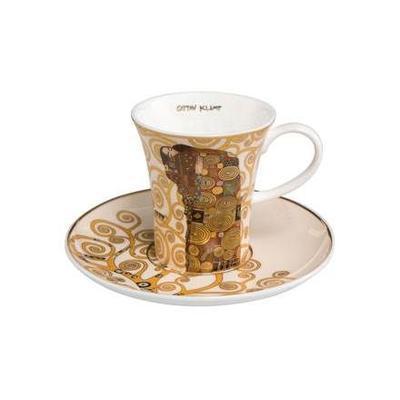 Šálek a podšálek espresso ARTIS ORBIS G. Klimt - Fulfilment - 100 ml/8 cm, Goebel