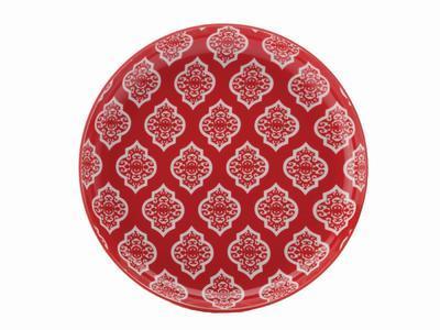 Talíř dezertní ALCAZAR 18,5 cm - red circ, MW Christopher Vine