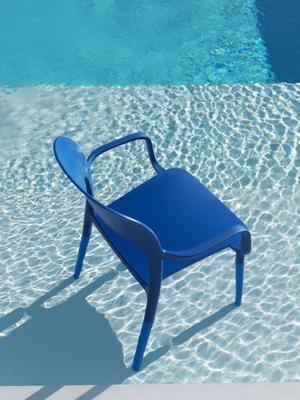 Židle s područkami GIPSY - blue marine, Bontempi