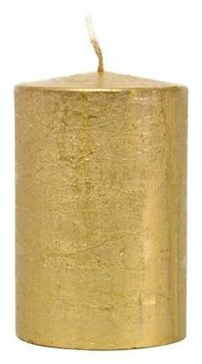 Svíčka válec EMOCIO RUSTIC 50x90 mm - zlatá, Svíčky UNI