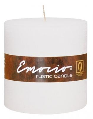 Svíčka válec EMOCIO RUSTIC 100x100 mm - bílá, Svíčky UNI
