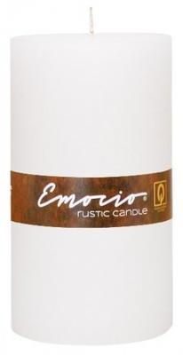 Svíčka válec EMOCIO RUSTIC 100x180 mm - bílá, Svíčky UNI