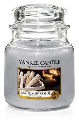 Svíčka Crackling Wood Fire - sklo č.2, Yankee Candle
