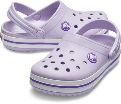 Boty CROCBAND CLOG KIDS  lavender/neon purple, Crocs