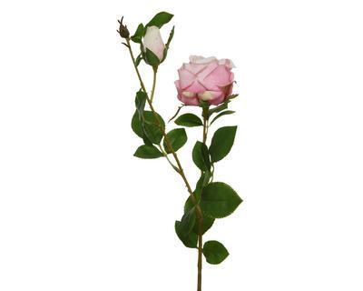 Růže s poupětem, 62cm, světle růžová, Kaemingk