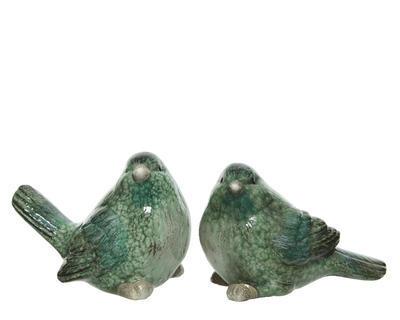 Dekorace PTÁČEK, 7,5x14x10cm, 2 druhy, zelený, Kaemingk