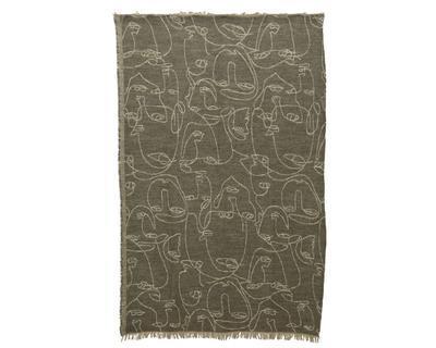 Pléd FACE, polyester, 170x130cm, hnědý, Kaemingk
