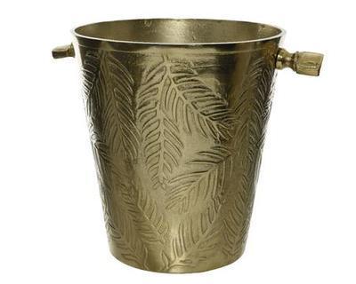 Chladič na šampaňské, 28x40x30cm, zlatý, Kaemingk