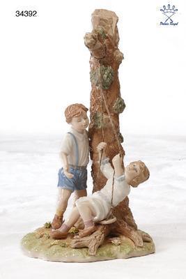 Dekorace - Houpající se děti 27 cm, Palais Royal