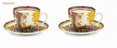 Set 2ks - šálek a podšálek na čaj BOUTIQUE - SANTA ROSALIA 16 cm, Palais Royal