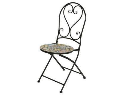 Skládací židle BRAGA s mozaikou, 39x47x94cm, venkovní, Kaemingk