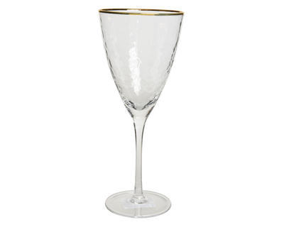 Vánoční sklenice na červené víno GOLD 10x23 cm, Kaemingk
