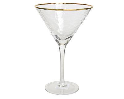Vánoční sklenice na Martini GOLD 12,5x19 cm, Kaemingk
