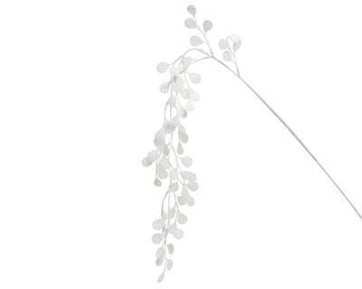 Vánoční dekorace - Větvička s lístky 105 cm - bílá, Kaemingk