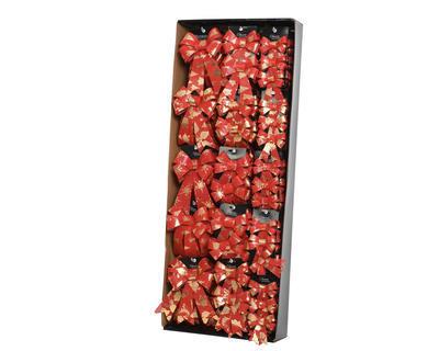 Vánoční ozdoba - Mašle různé druhy - červená, Kaemingk