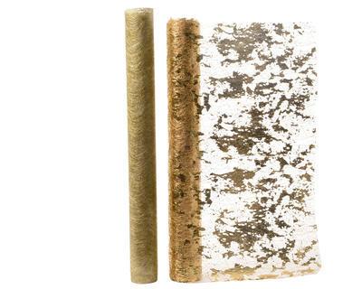 Vánoční dekorační tkanina s kovovým vláknem 30x200 cm - zlatá - 2 druhy, Kaemingk